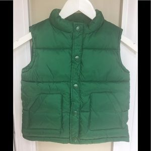 NEW Gymboree green puffer vest